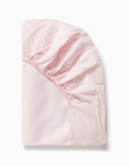 Sábana Ajustable de Cuna 120x60 cm Interbaby Rosa