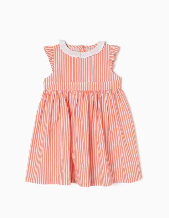 Vestido a Rayas Naranja