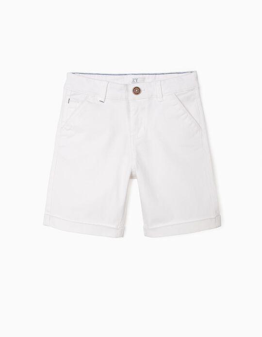 Chino Shorts, White