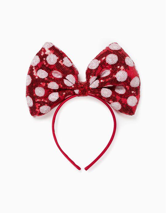 Serre-tête fille 'Minnie', rouge