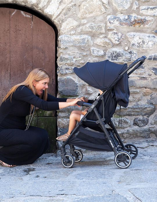 Silla de Paseo Kuki Light Baby Monsters Black Canopy