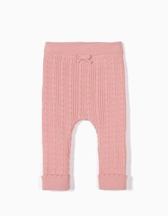 Pantalón de Punto para Recién Nacida, Rosa