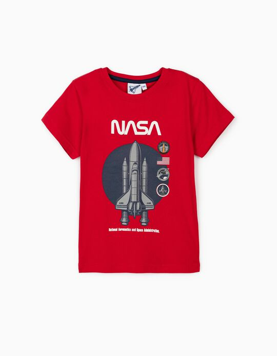 T-shirt para Menino 'NASA', Vermelho