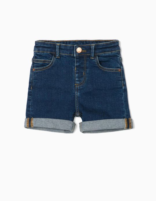 Denim Shorts for Baby Girls, 'Comfort Denim', Dark Blue