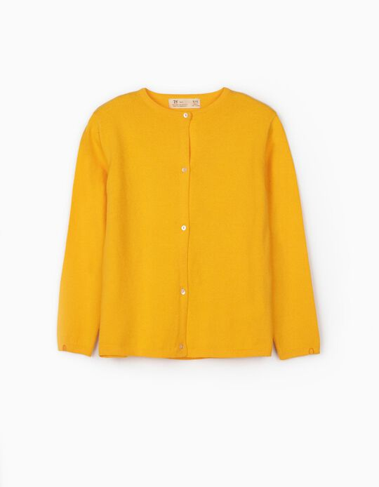 Cardigan for Girls, Yellow