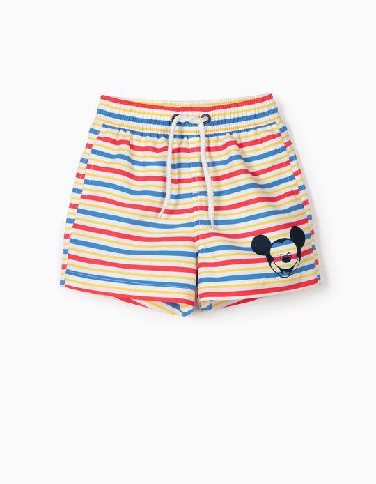 Short de bain rayé bébé garçon 'Mickey' Anti-UV 80, multicolore