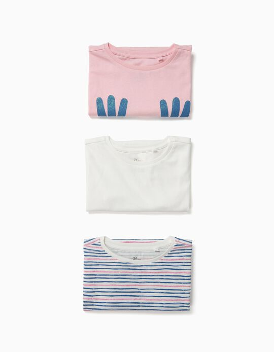3 T-shirts para Menina 'Spread Some Love', Multicolor