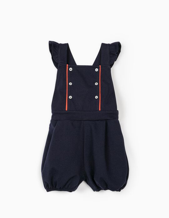 Jumpsuit for Baby Girls, Dark Blue
