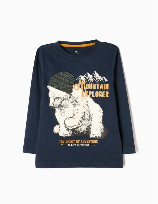 Camiseta de Manga Larga Adventure Bear Azul