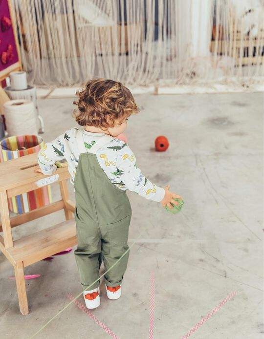 Dungarees for Baby Boys, 'Welcome to Egypt', Green