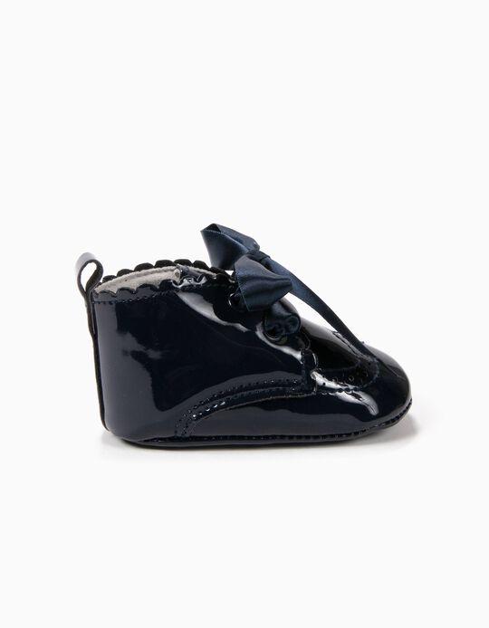 Sapatos Pre-Walker Verniz Azuis