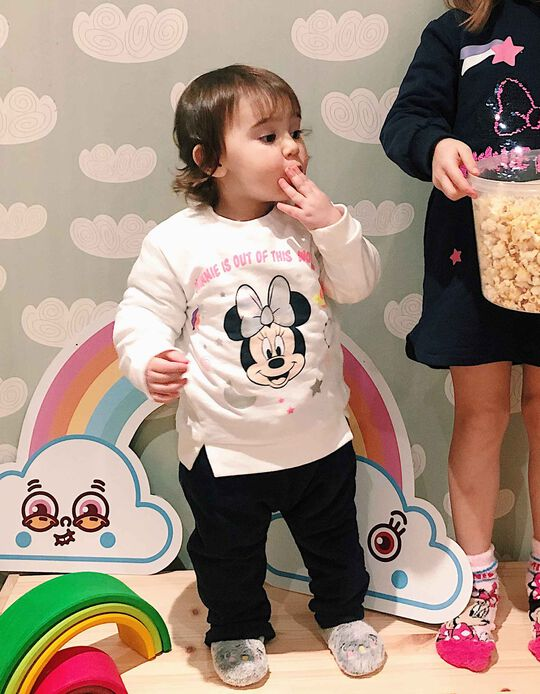 Sweatshirt for Baby Girls 'Minnie Mouse World', White