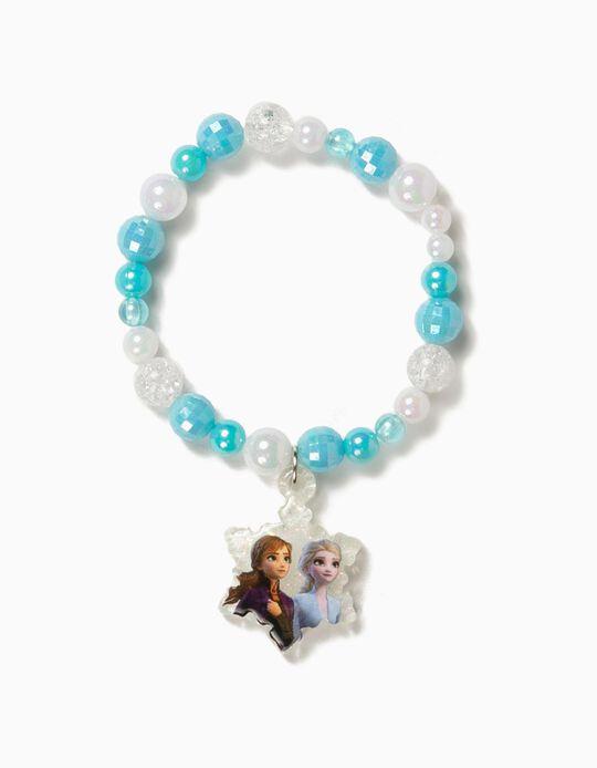 Pulseira de Missangas para Menina 'Frozen II', Azul e Branco