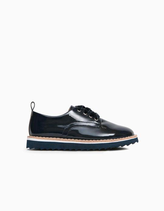 Zapatos de Charol para Niña, Azul Oscuro