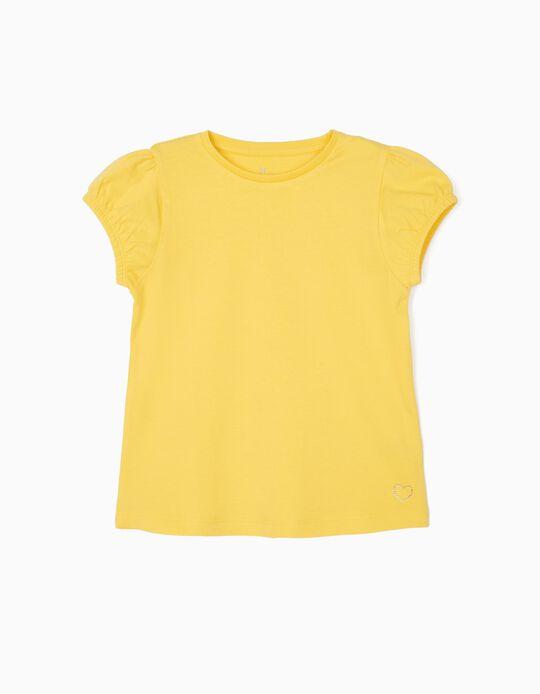 Camiseta para Niña, Amarilla