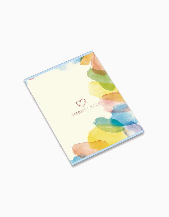 A4 Stapled Ruled Notebook 'Ambar Cycle Aqua & Sky', Assorted