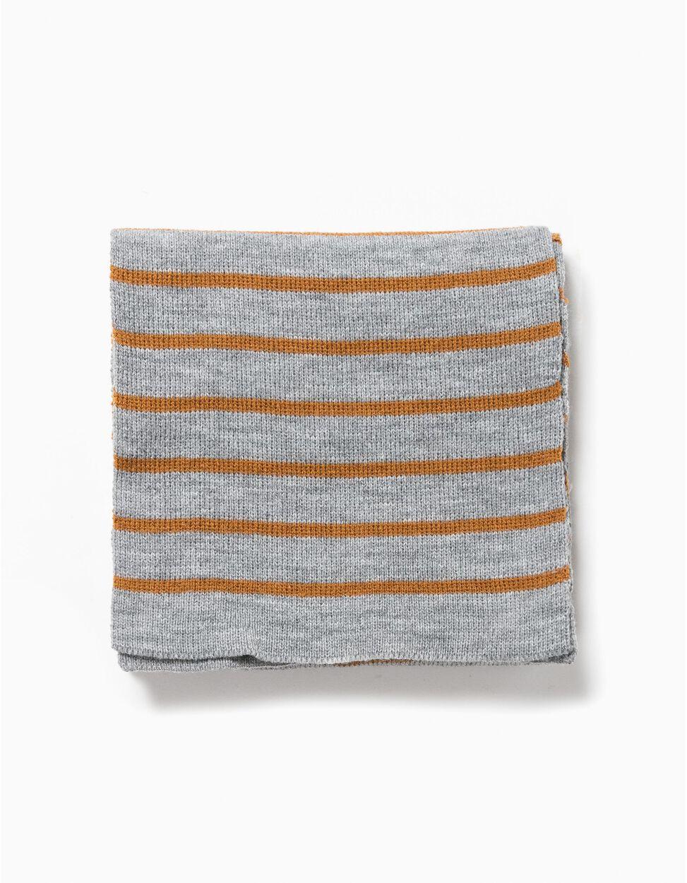 Cachecol tricotado riscas