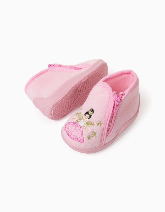 Slipper Boots for Baby Girls 'Ballerina', Pink