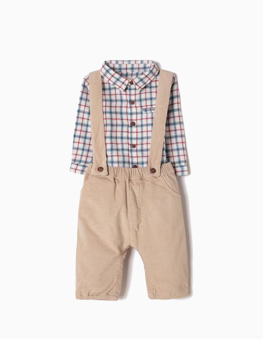 Pantalón con Tirantes de Pana y Camisa-Body