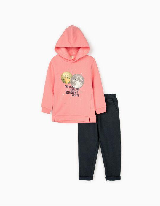 Tracksuit for Girls 'Biggest Hearts', Pink/Dark Blue