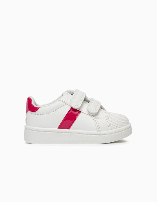 Trainers for Baby Girls, White/Pink