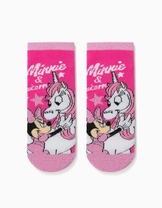 Calcetines Antideslizantes para Niña 'Minnie & Unicorn', Rosa