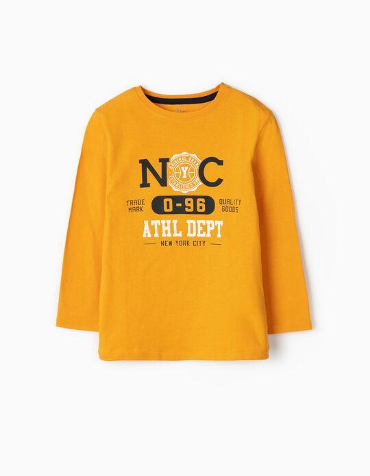 Camiseta de Manga Larga para Niño 'NYC', Amarilla
