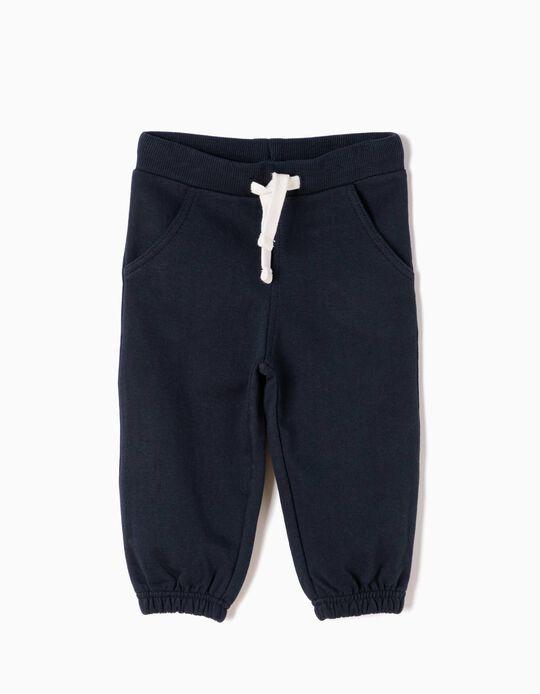 Pantalón de Chándal Básico Azul