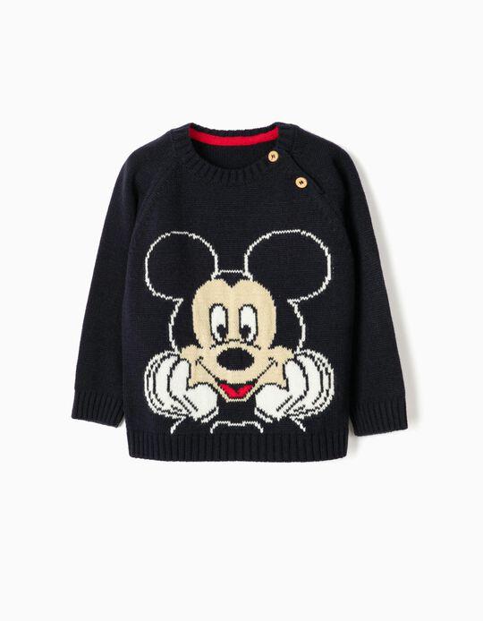 Camiseta de Punto para Bebé Niño 'Mickey', Azul Oscuro