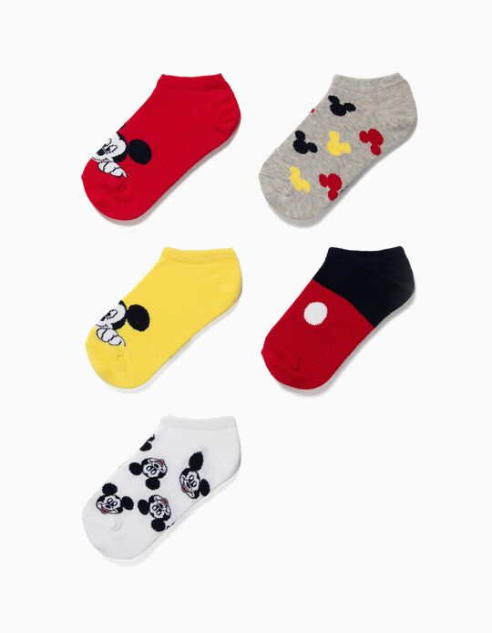 5 Pares de Meias Curtas para Menino 'Mickey', Multicolor