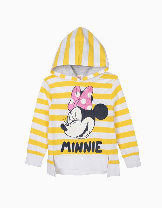 Sweatshirt com Capuz para Menina 'Minnie' com Riscas, Amarelo