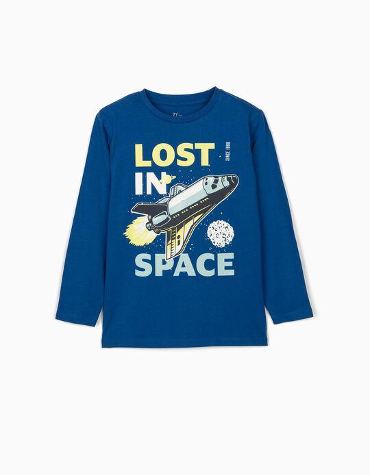Camiseta de Manga Larga para Niño 'Lost in Space', Azul