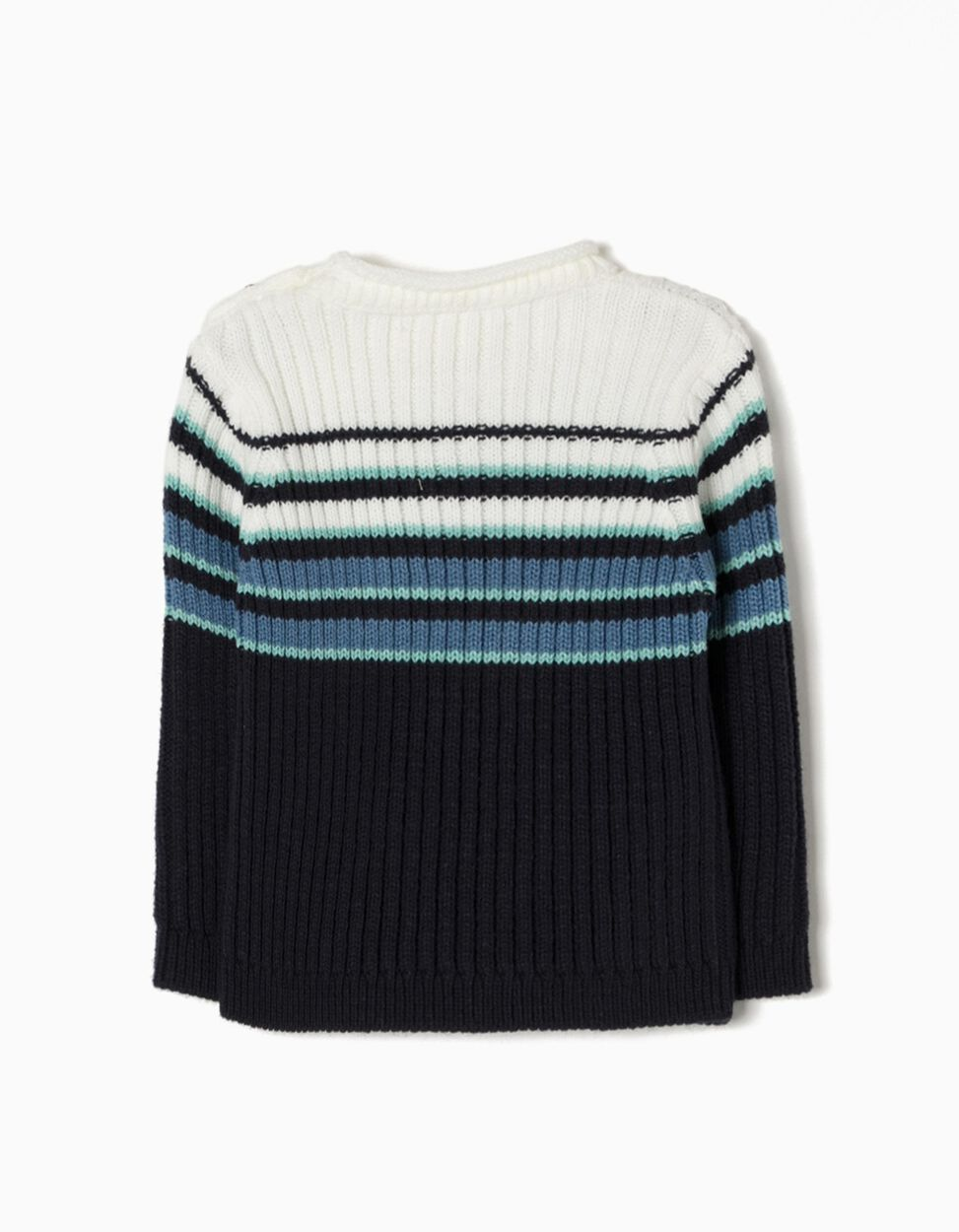 Camisola de Malha Riscas Azuis