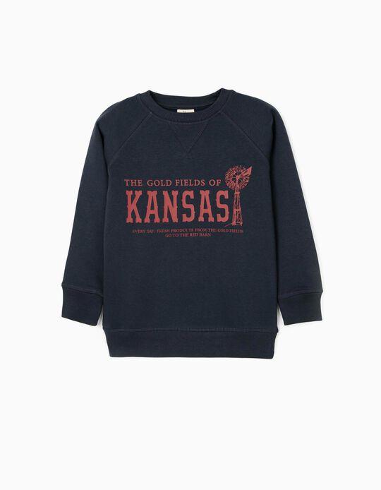 Sudadera para Niño 'Kansas', Azul Oscuro
