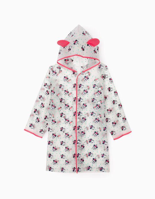 Rain Cape for Girls 'Minnie', Transparent/Pink