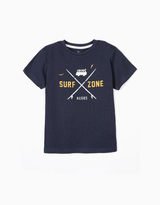 T-shirt para Menino 'Surf Zone', Azul Escuro