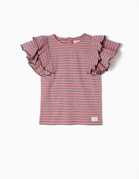Camiseta a Rayas y Volantes