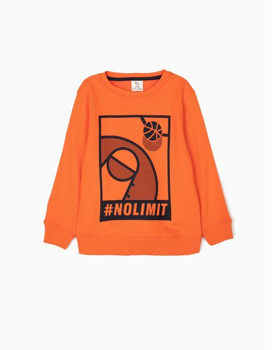 Sweatshirt para Menino '#NoLimit', Laranja