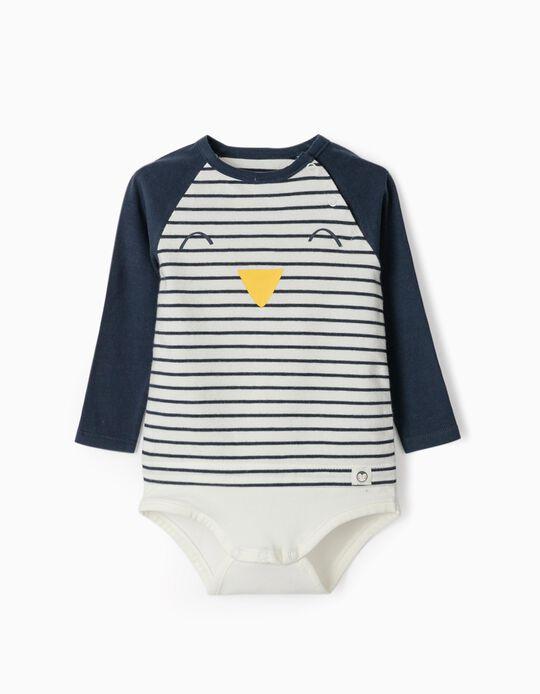 Body para Recién Nacido 'Cute Penguin', Blanco/Azul Oscuro