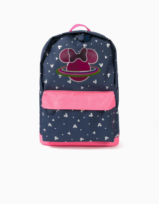 Backpack for Girls, 'Minnie Space', Dark Blue/Pink