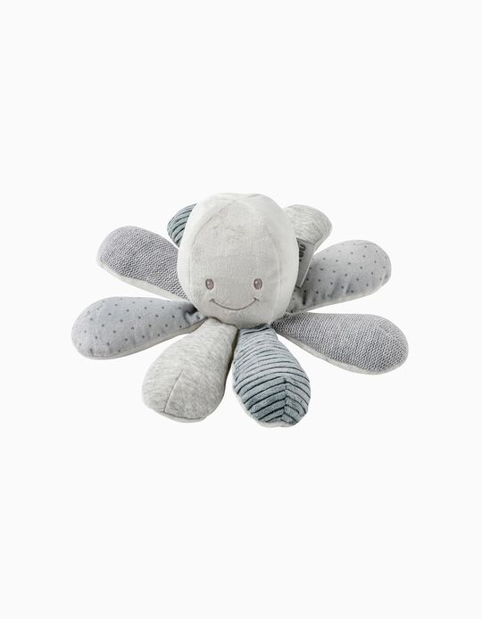 Lapidou Octopus 22 cm, by Nattou, Grey