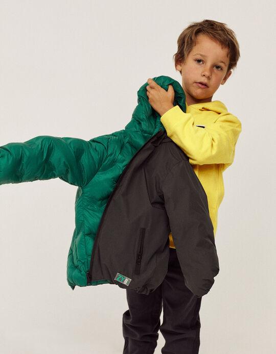 Reversible Jacket for Boys, Dark Grey/Green