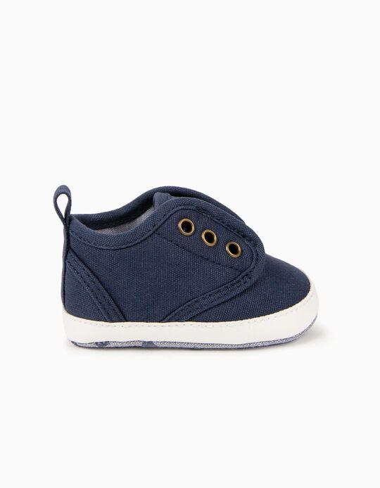 Zapatillas de Lona para Recién Nacido, Azul Oscuro
