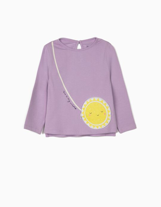 Long Sleeve Top for Baby Girls 'Universe', Lilac