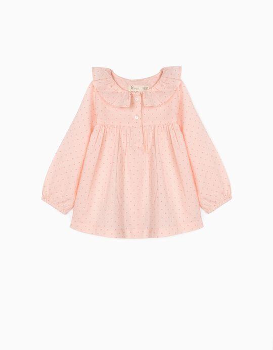 Blusa para Bebé Menina 'Dots', Rosa