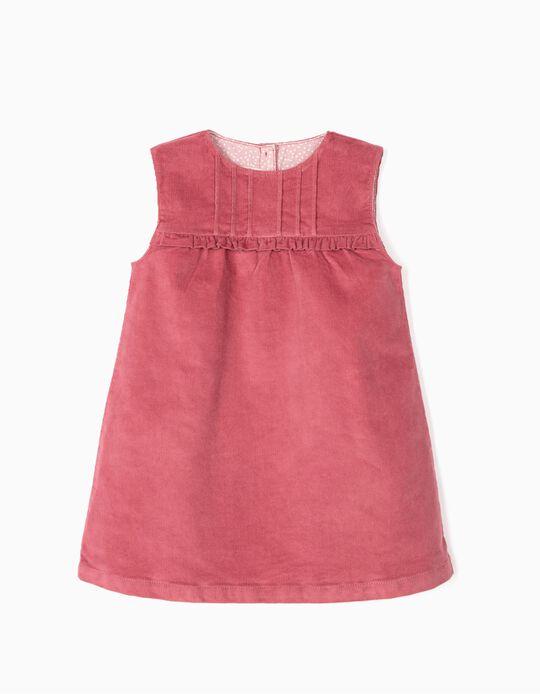 Vestido de Bombazine para Bebé Menina, Rosa