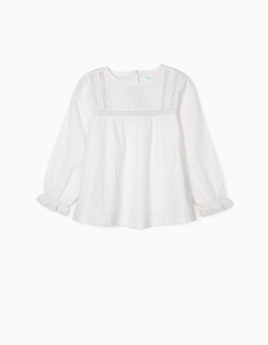 Blusa para Menina 'B&S', Branco