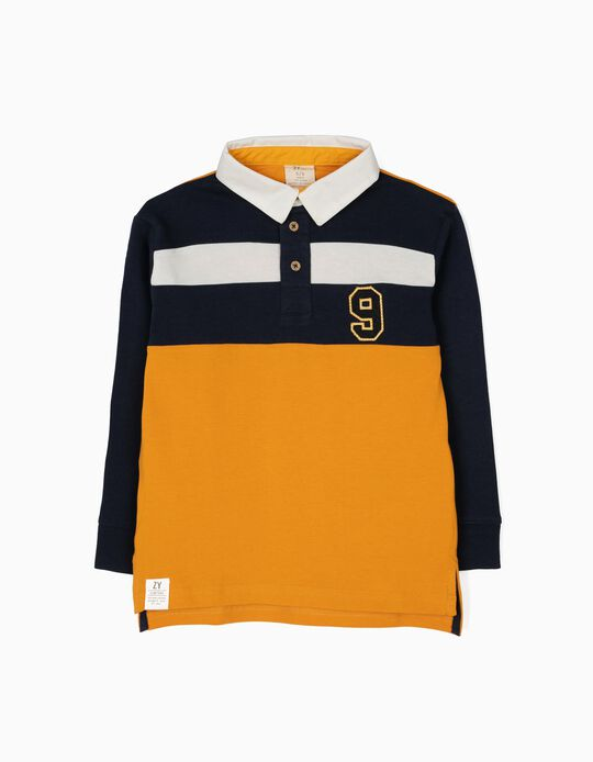 Polo para Menino 'BY Team Leader', Tricolor