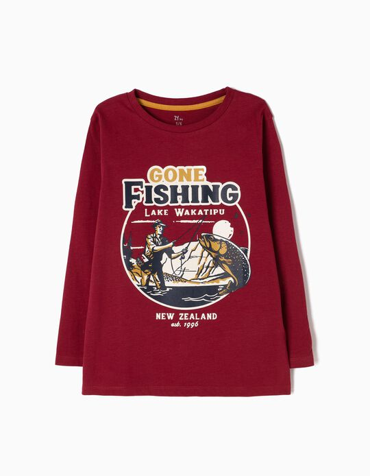 Camiseta de Manga Larga Gone Fishing