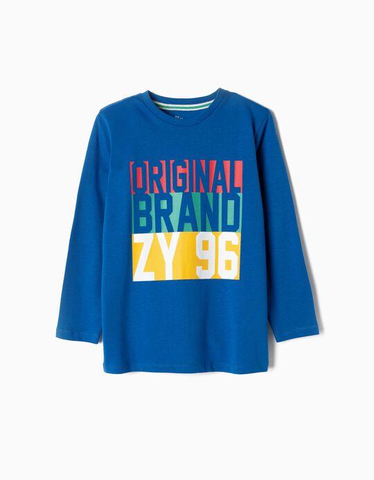 Camiseta de Manga Larga para Niño 'ZY 96', Azul